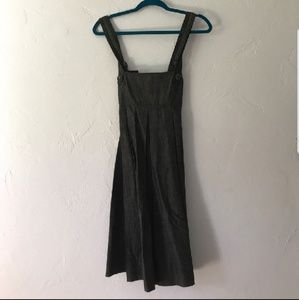 Theory pinafore-style buttoned dress